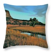 Devils Tower Daybreak Throw Pillow