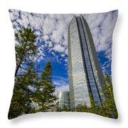 Devon Tower Oklahoma City Throw Pillow