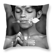 Devotion Bw Throw Pillow