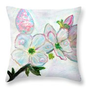 Dew And Smell Of Almond Flowers Throw Pillow