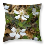 Dewberry Flower Throw Pillow