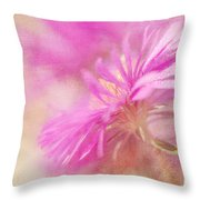 Dewy Pink Asters Throw Pillow by Lois Bryan