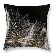 Dewy Seed Parachutes Throw Pillow