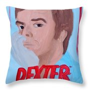 Dexter With Hand Throw Pillow