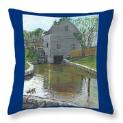 Dexter's Grist Mill - Cape Cod Throw Pillow