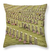 Dfw National Cemetery II Throw Pillow