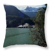 Diablo Dam Throw Pillow