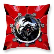 Diablo Wheel Hub Throw Pillow