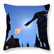 Diagon Alley Dragon Fire Throw Pillow