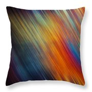 Diagonal Rainbow Throw Pillow