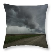 Diagonal Shelf Clooud Throw Pillow