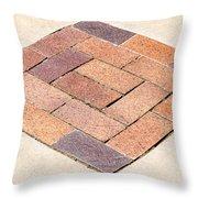 Diamond Bricks Throw Pillow