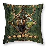 Diamond Elk Throw Pillow