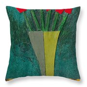 Diamond Flowers Throw Pillow