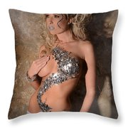 Diamond Girl Throw Pillow