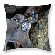 Diamond In The Ruff Ice Throw Pillow