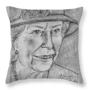 Diamond Jubilee Queen  Throw Pillow