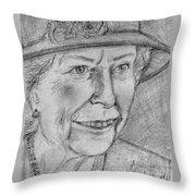 Diamond Jubilee Queen  Throw Pillow