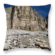 Diamond Lake Cliff Throw Pillow