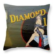 Diamond Lil B-24 Bomber Throw Pillow