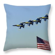 Diamond Over The Flag Throw Pillow