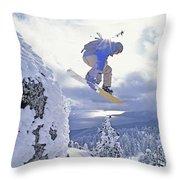 Diamond Peak, Lake Tahoe, Nevada, Usa Throw Pillow