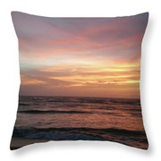 Diamond Shoals Sunset - Outer Banks Nc Throw Pillow