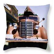Diamond T Truck - Sahara Throw Pillow