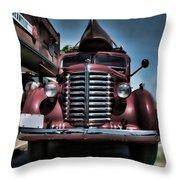Diamond T Vintage Truck Art Throw Pillow