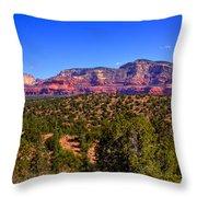 Diamondback Gulch Near Sedona Arizona Throw Pillow