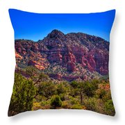 Diamondback Gulch Near Sedona Arizona Viii Throw Pillow
