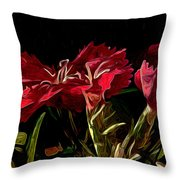 Dianthae In Retrospect Throw Pillow