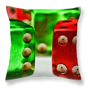 Dice - Boxcars Throw Pillow