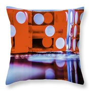 Dice Reflections Throw Pillow