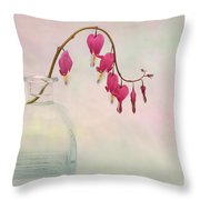 Dicentra In A Glass Vase 2 Throw Pillow