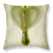 Dicentra Spectabilis Alba Throw Pillow