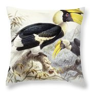 Dichocerus Bicornis Throw Pillow