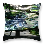 Dichromic Lily Pad Throw Pillow