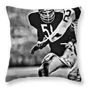 Dick Butkus Throw Pillow
