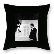 Dick Mayers Weather Cast Kvoa Tv Tucson Arizona Circa 1964 Throw Pillow