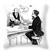 Dickens' First Encounter With A Martini Throw Pillow