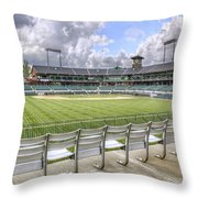 Dickey-stephens Park Throw Pillow by Jason Politte