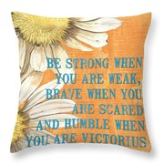 Dictionary Floral 2 Throw Pillow