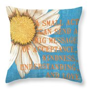 Dictionary Florals 4 Throw Pillow