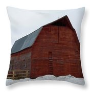 Dictionary's Red Barn Throw Pillow