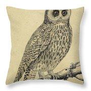 Die Nacht Eule Throw Pillow