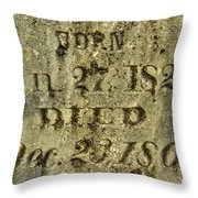 Died Throw Pillow