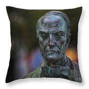Diego Fernando Montanes Alvarez Statue Cadiz Spain Throw Pillow