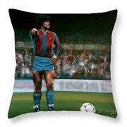 Diego Maradona Throw Pillow