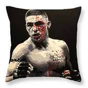Diego Sanchez - War Throw Pillow